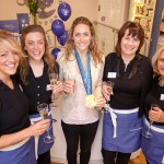 Olypmian Amy Williams, Crabtree and Evelyn Opening, Bath