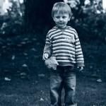 Boy with leaf.