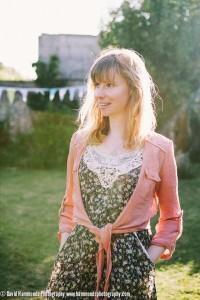 Singer Ellie Larke, after a garden party gig